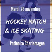 Hockey match &amp Ice skating