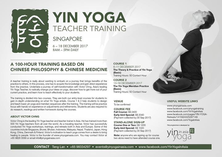 Yin Yoga Teacher Training (Basic)