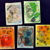 Art Therapy Workshop Intuitive Found Poetry Art
