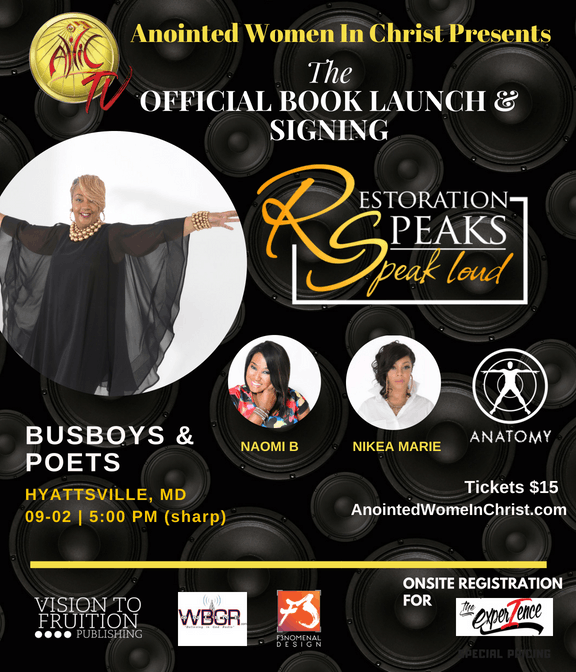 Restoration Speaks Book Launch Signing At Busboys And Poets