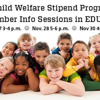 Colorado Child Welfare Stipend Info Sessions