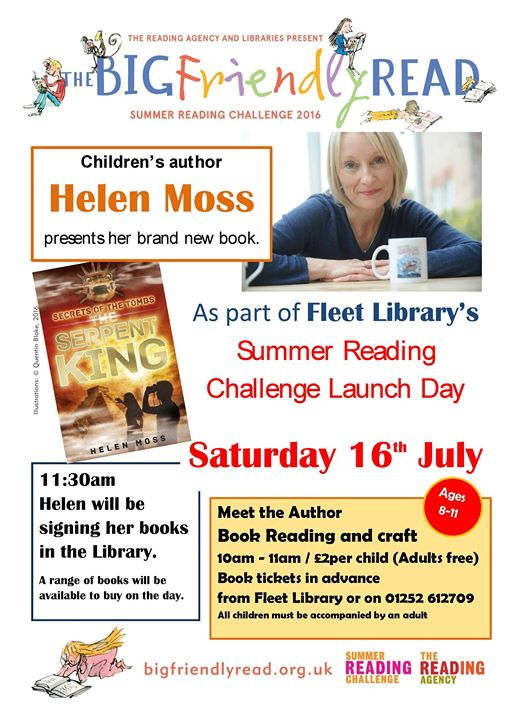 Helen Moss at the Big Friendly Read Launch day