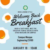 Welcome Back Breakfast