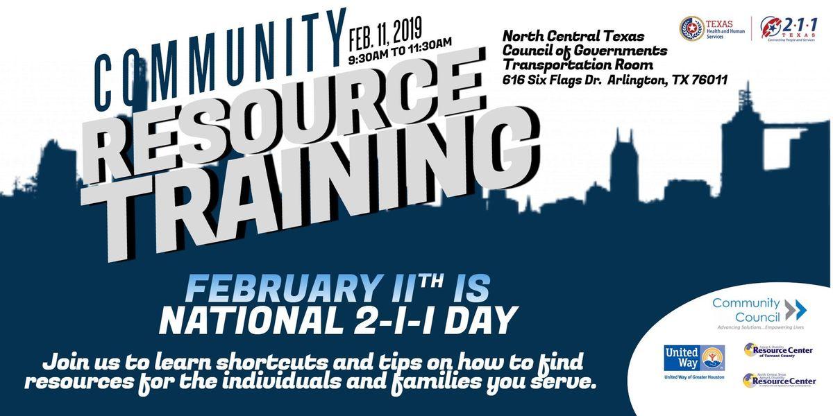 2-1-1 Texas Community Resource Training