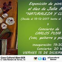 Exposicin leos de Julia Moya  Concierto Carlos Puya