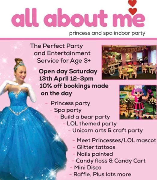 All About Me Princess And Spa Open Day