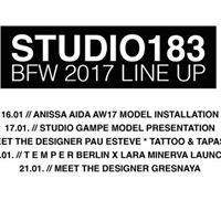 Berlin Fashion Week - Studio183 LINE UP