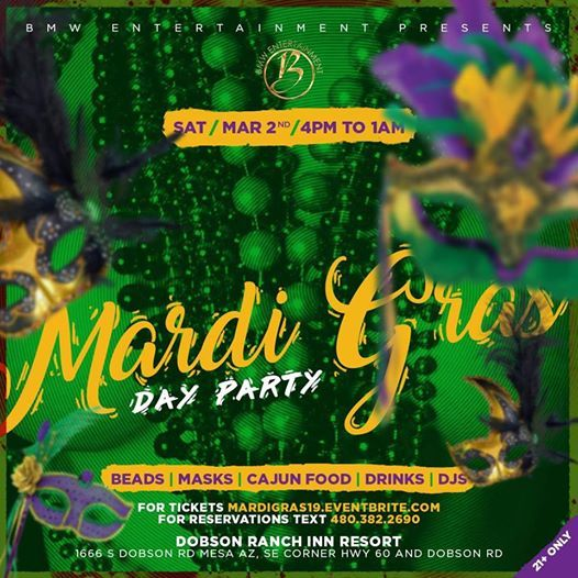 1st Annual Mardi Gras Day Party
