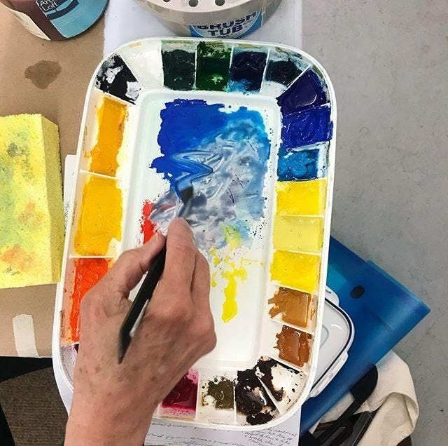 All About Color in Watercolor Workshop with Kristin Woodward