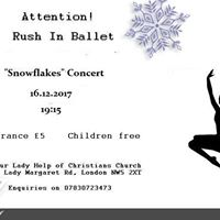 THE SAPPHIRE COMMUNITY GROUP PRESENTS RUSH IN BALLET