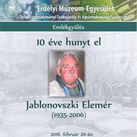 10 ve hunyt el Jablonovszki Elemr
