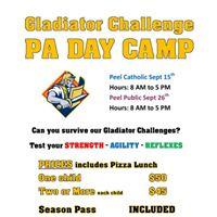 PA DAY CAMP for Peel Public School Board