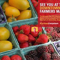 ISU Alumni Association at the Des Moines Downtown Farmers Market