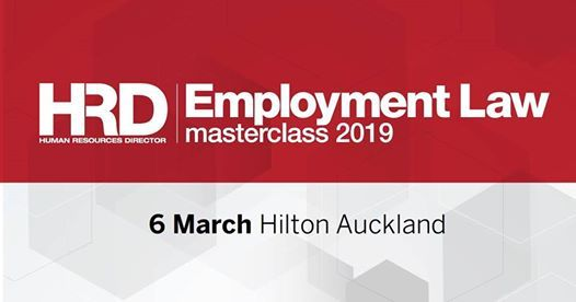Employment Law Masterclass 2019 - Auckland