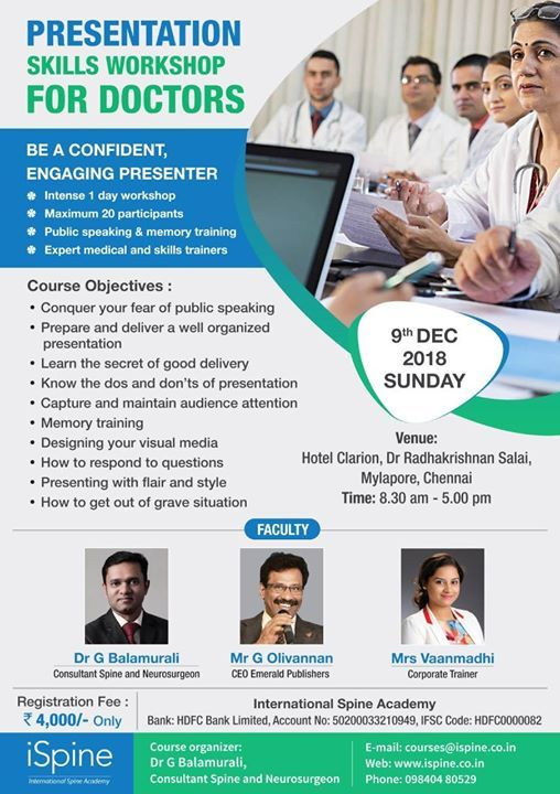 Presentation Skills Workshop for Doctors - 9122018