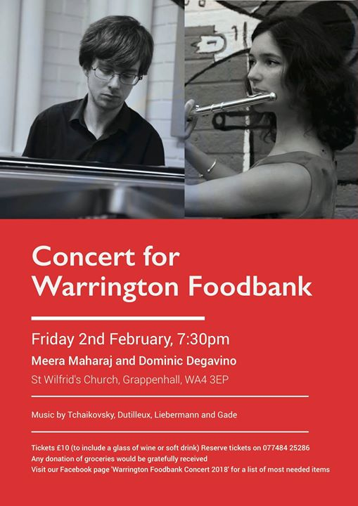 Warrington Foodbank Concert 2018 At St Wilfrids Church