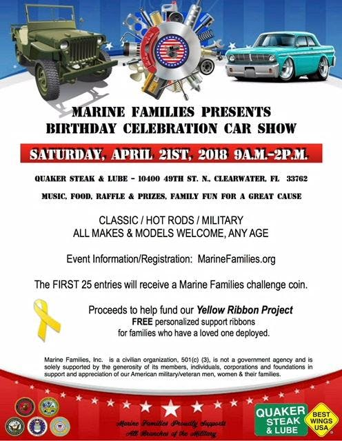 Marine Families Car Show At Th St N Clearwater - Classic car show clearwater fl