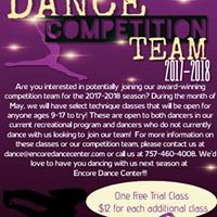 Join Encore Dance Centers Award Winning Dance Competition Team