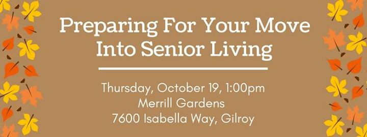 Preparing for Your Move into Senior Living at Merrill Gardens Gilroy