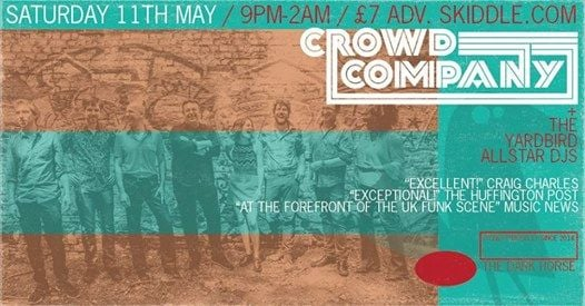 The Yardbird proudly presents..Crowd Company (Live)  The Yardbi