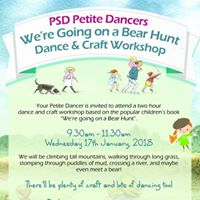 Wre Going on a Bear Hunt Dance and Craft Workshop