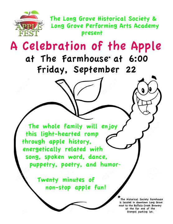 a light hearted celebration of the apple at long grove historical