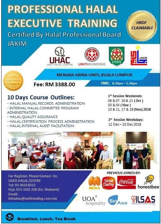 Professional Halal Executive Training At Uniti Halal Centre