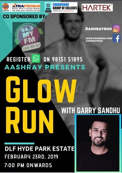 Aashray Glow Run with Garry Sandhu