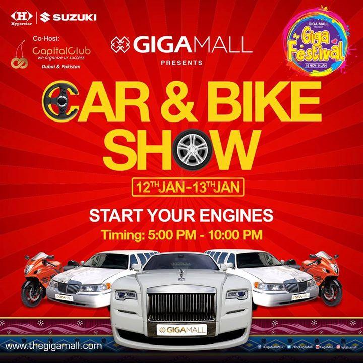 giga mall bike auto show 2018 at world trade center islamabad rawalpindi. Black Bedroom Furniture Sets. Home Design Ideas