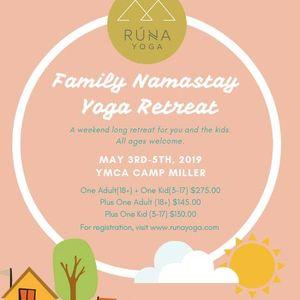 Family Namastay Yoga Retreat at Runa Yoga, Duluth