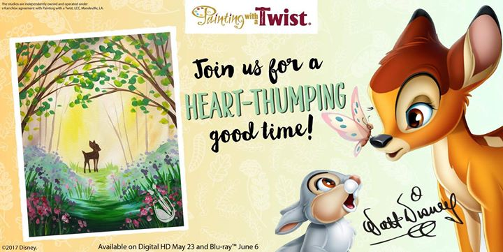 Disneys Bambi Public Event At Painting With A Twist Davie