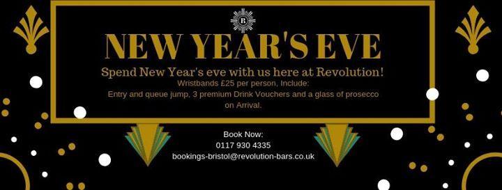 New Years Eve at Revolution Bristol