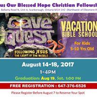 JBH Vacation Bible School 2017