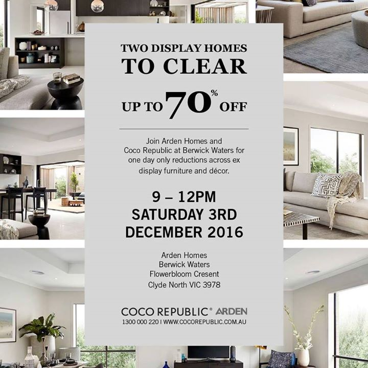 Arden Homes U0026 Coco Republic Ex Display Furniture Sale
