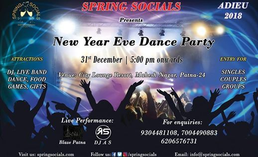 new year eve dance party at city lounge resort patna