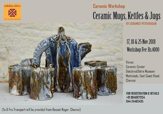 Workshop on Ceramic MugsJugs and Kettles