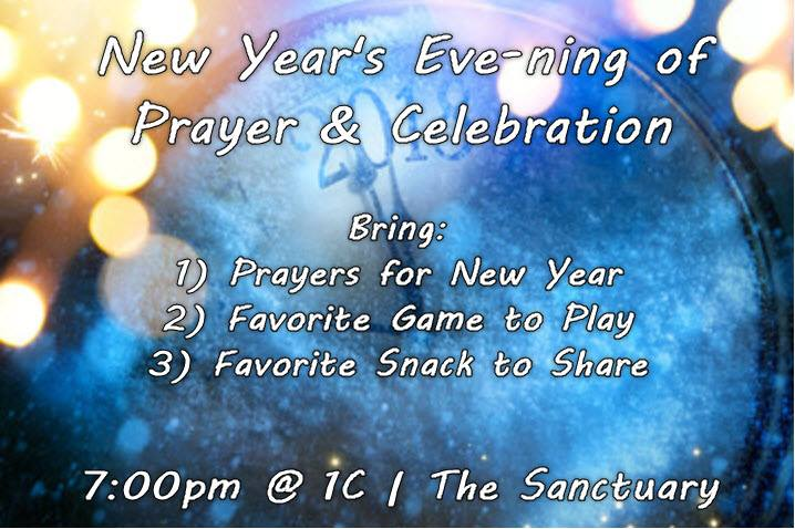 1C New Years Eve-ning of Prayer & Celebration at 1C, Columbus