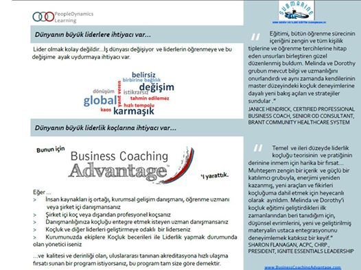 Business Coaching Advantage Program Ak Eitimi