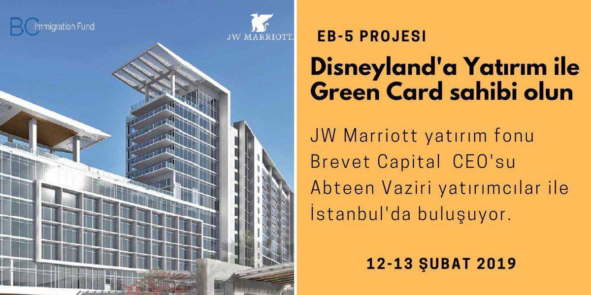 Disneyland JW Marriotta Yatrm YapnGreen Card Sahibi Olun