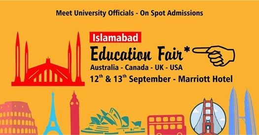 Islamabad  12th & 13th September at Marriott Hotel ISB