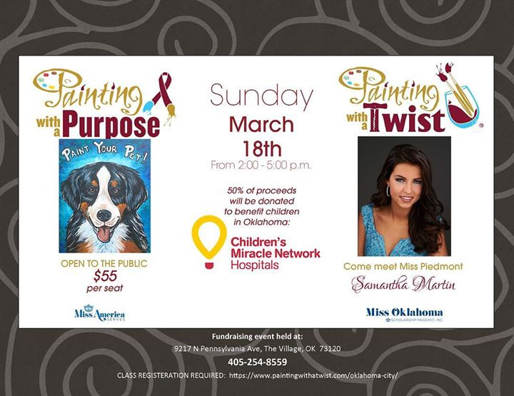 Painting wa Purpose -Childrens Miracle Network Paint Your Pet