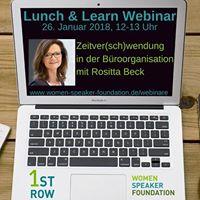 Live-Webinar &quotZeitver(sch)wendung in der Broorganisation&quot mit Rositta Beck
