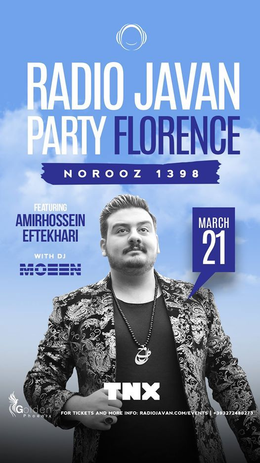 Radio Javan Norooz Party In Florence With Amirhossein