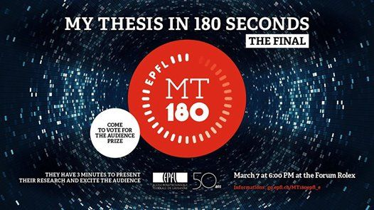 my thesis in 180 seconds epfl