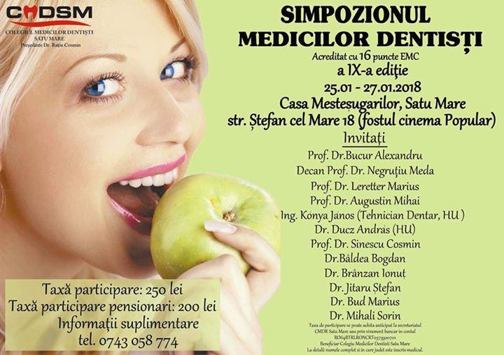 Simozionul Medicilor Dentisti Satu Mare editia IX