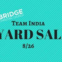 Team India Yard SaleBake Sale