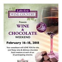 Wine and Chocolate Weekend 2018