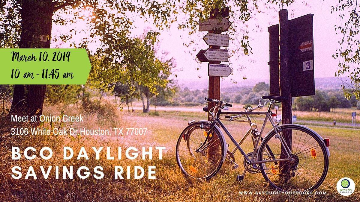 BCO Daylight Savings Ride