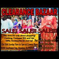 CLEARANCE BAZAAR