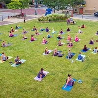 Yoga In the GRASS at The Downtown Canton Flea